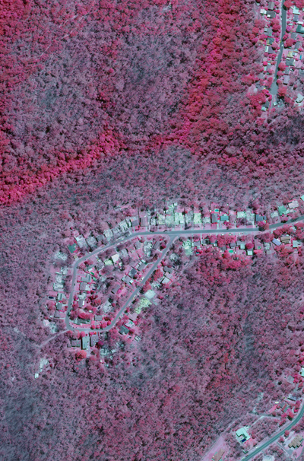 Infra-red aerial imagery