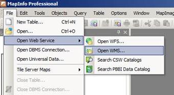 MapInfo - Open WMS