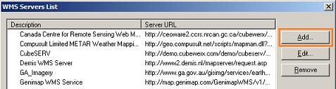 MapInfo - Add Server