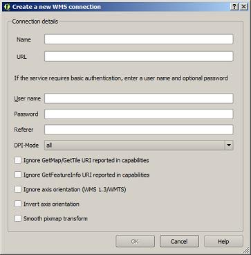 QGIS - New WMS Connection