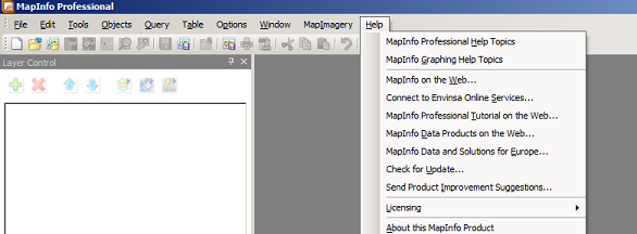 MapInfo - Help